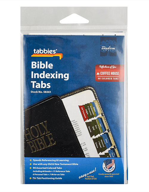 Tabbies 58361 Coffee House Colored  Bible Tabs