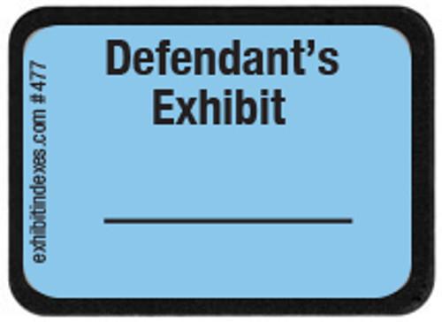 Defendant's Exhibit Labels #477