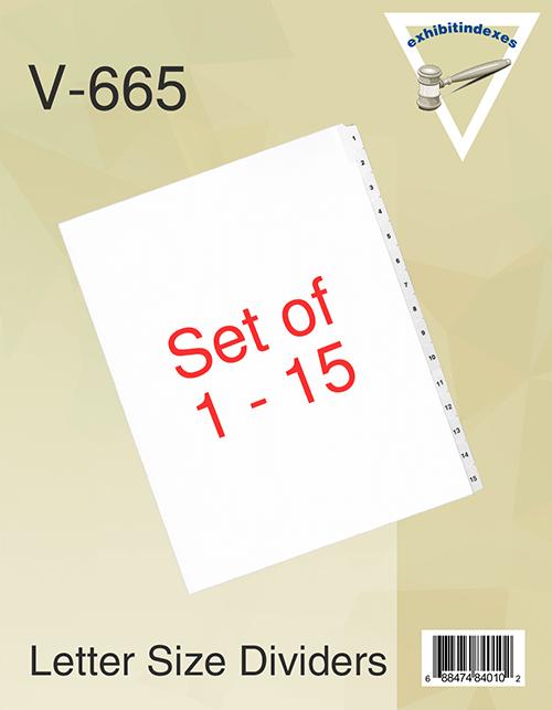 1-15 Side Tab Dividers