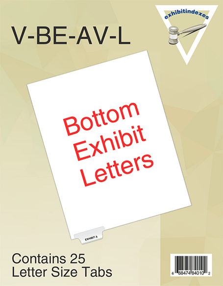 Side Tabbed 25 Individual Letters per Package Letter Size Exhibit G Not Punched Blumberg Exhibit Index Dividers