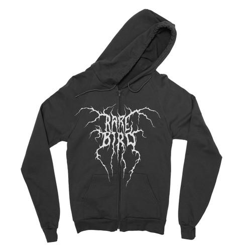 Rare Bird Black Metal Logo Hoodie