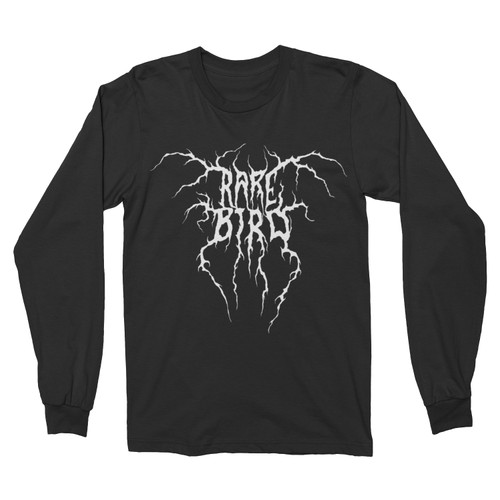 Rare Bird Black Metal Logo Long-Sleeve T-Shirt