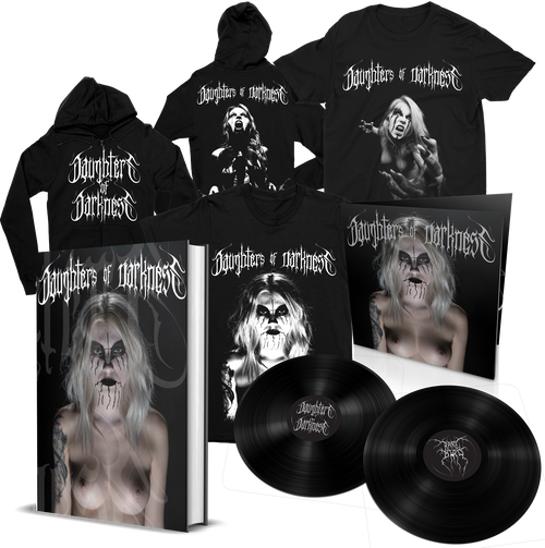 Daughters of Darkness—Standard Edition Book Bundle w/ Limited Edition 2xLP + Hoodie and 2 Shirts [Signed] by Jeremy Saffer