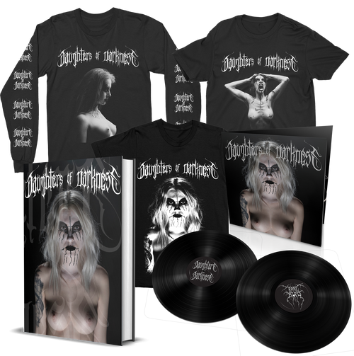 Daughters of Darkness—Standard Edition Book Bundle w/ Limited Edition 2xLP + Long-Sleeve and 2 Shirts [Signed] by Jeremy Saffer