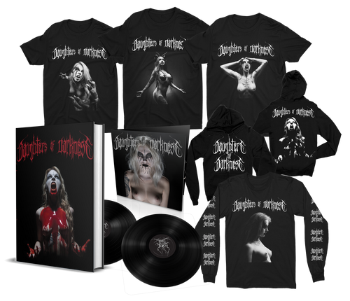 Daughters of Darkness—Bathory Edition Book Bundle w/ Limited Edition 2xLP + Hoodie, Long Sleeve, and 3 Shirts [Signed] by Jeremy Saffer