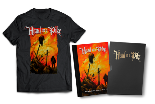 Head on a Pike: The Illustrated Lyrics of Matt Pike [signed limited edition slipcase hardcover w/ T-shirt, Enamel Pin, and stickers] by Matt Pike