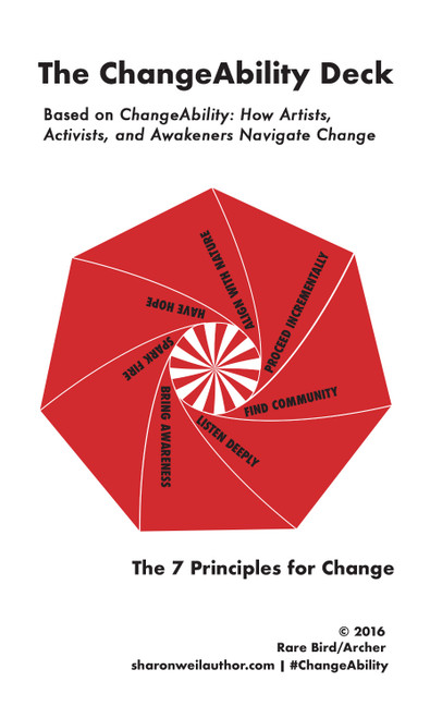 The ChangeAbility Deck: The 7 Principles for Change by Sharon Weil