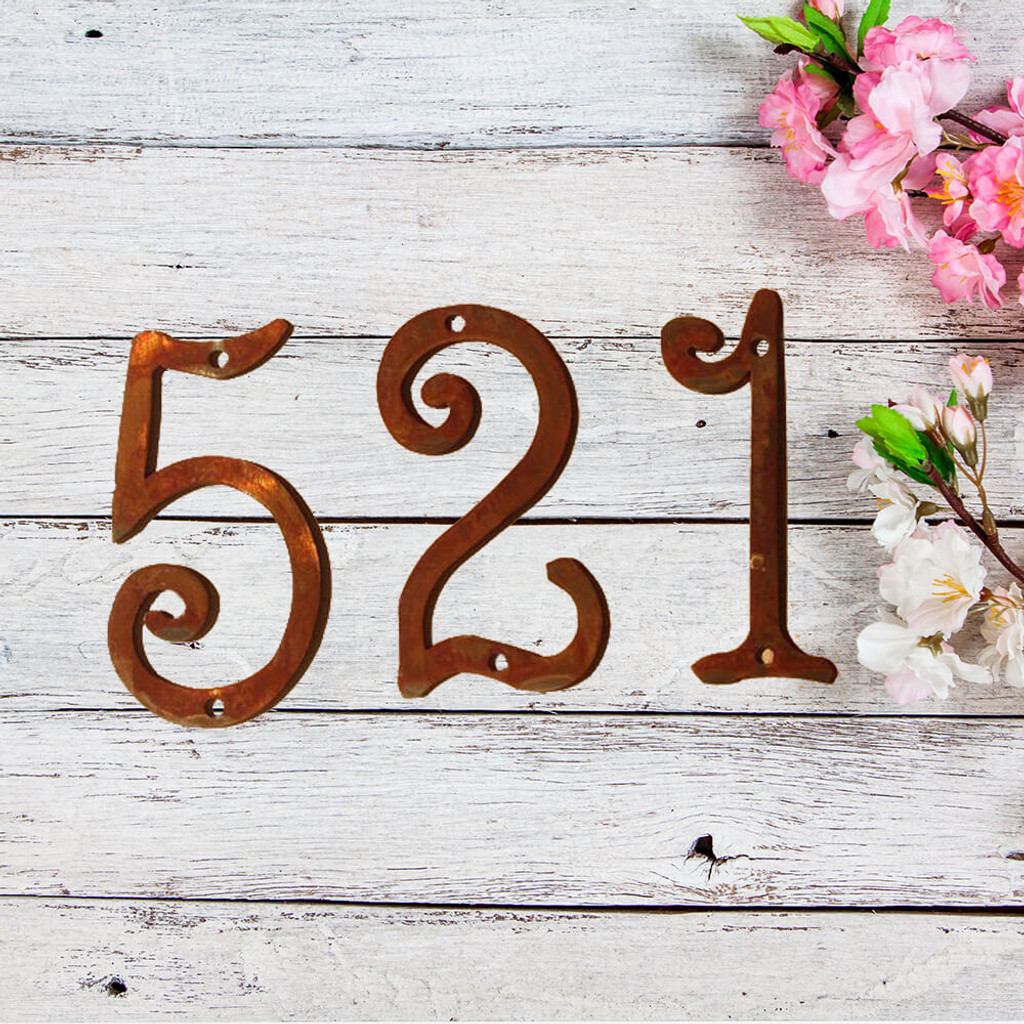 Fun Metal House Numbers  (GAW)