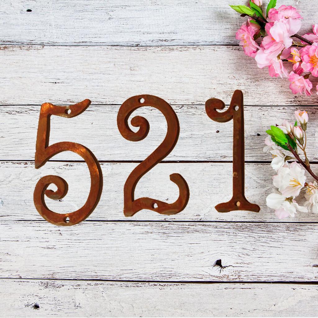 Fun Metal House Numbers  (GAW)