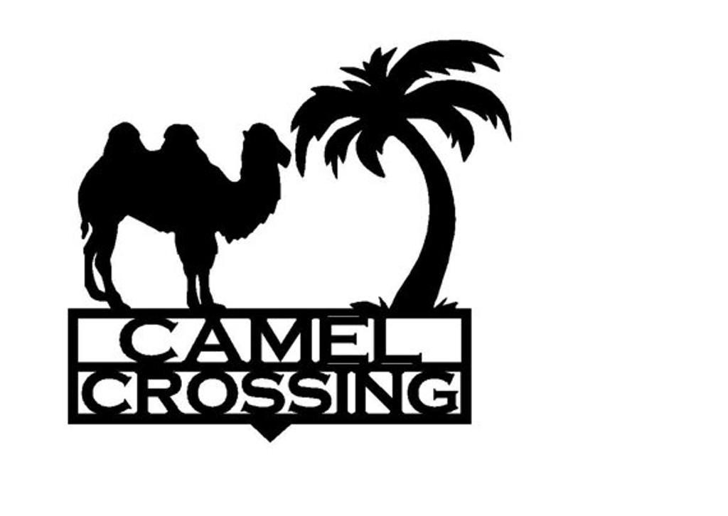 Camel Crossing Garden Stake (Z4)