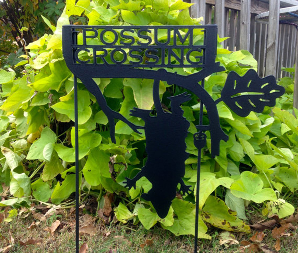 Possum Crossing Garden Stake (Y9)