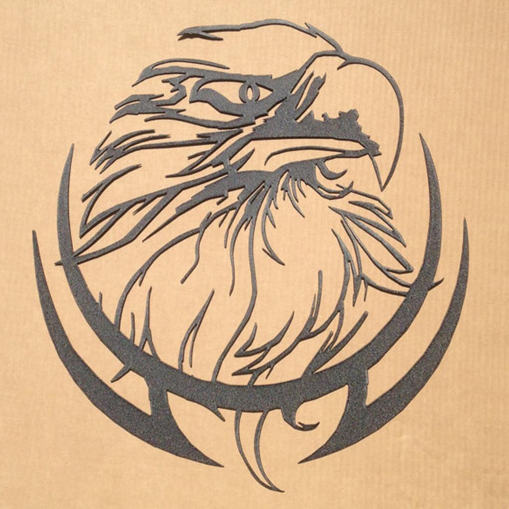 Eagle Head Metal Wall Art H4