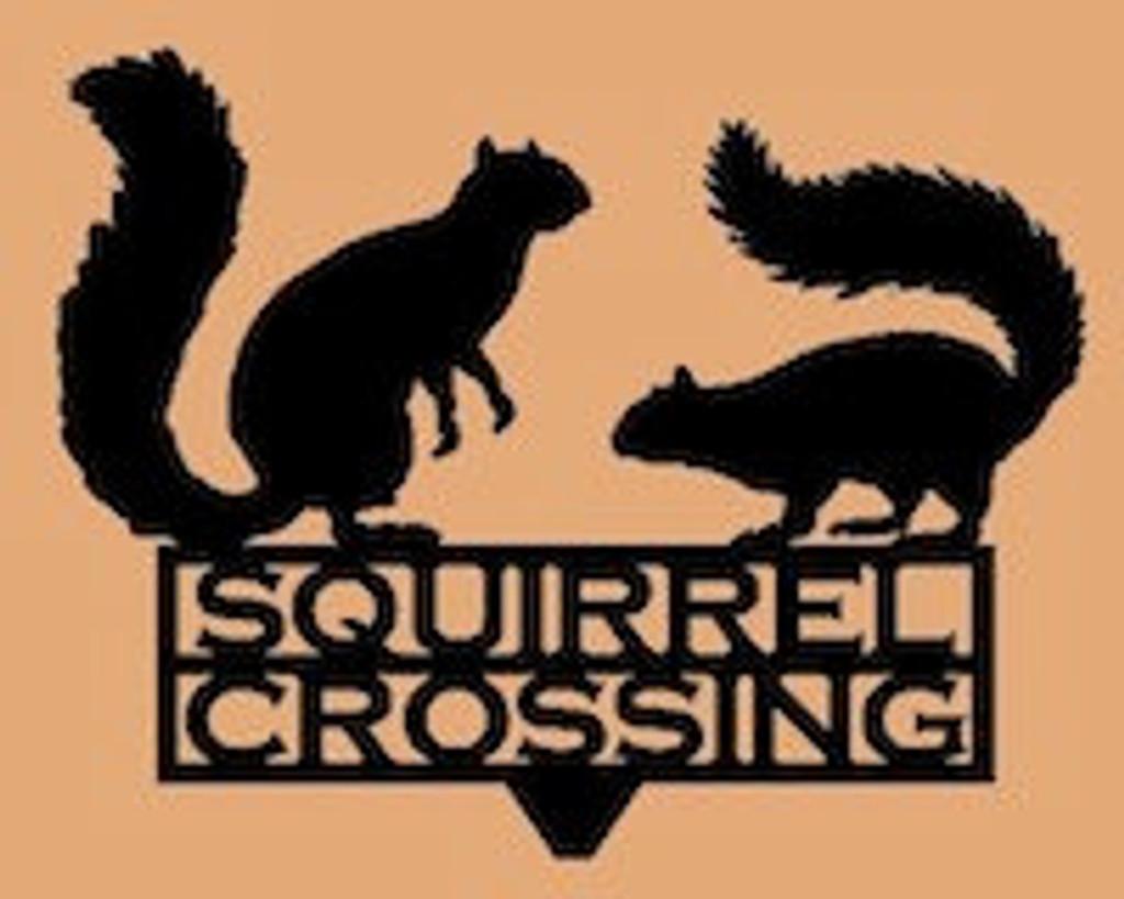 Squirrel Crossing Garden Stake (U7)