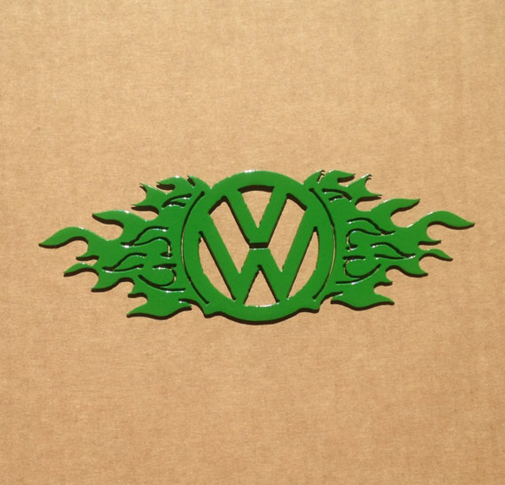 Vw Emblem With Flames Medal Wall Art P17 Rusty Rooster Fabrication Design
