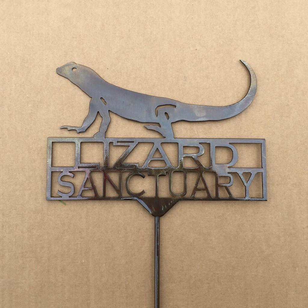 Lizard Crossing Garden Stake (Z2)
