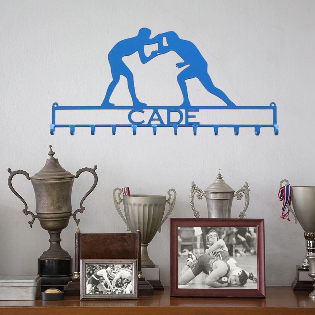 Wrestler Medal holder with Personalized Text Field (M27)