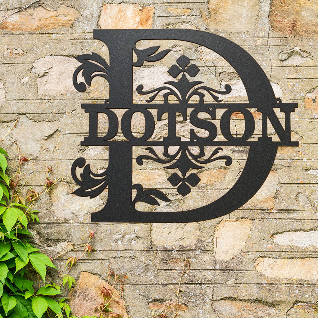 Elegant Monogram Family Name Wall Art (P21)