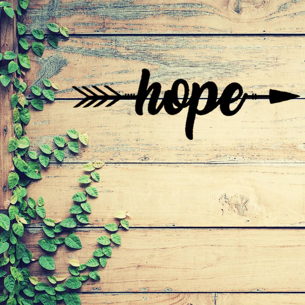 An Arrow of Hope Metal Wall Art (B50)