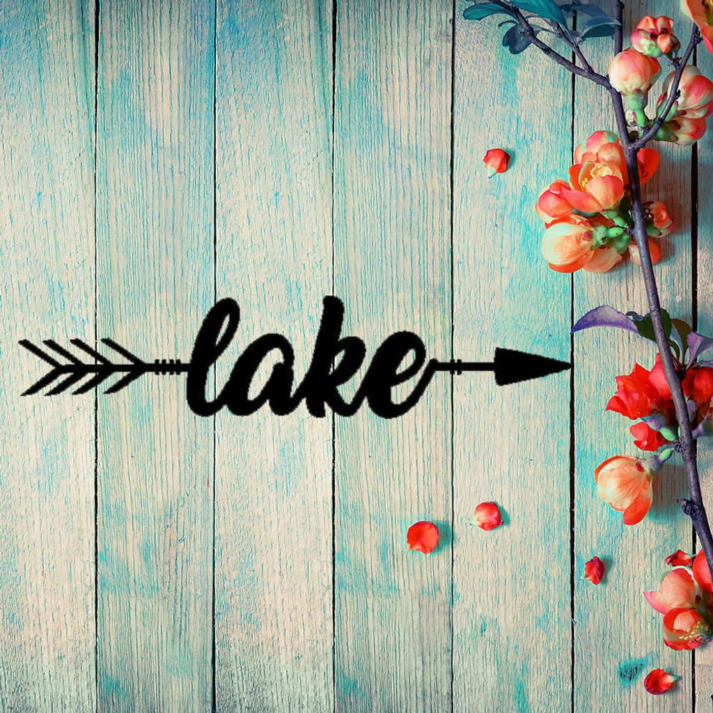 This Way to the Lake! Metal Wall Art (B57)