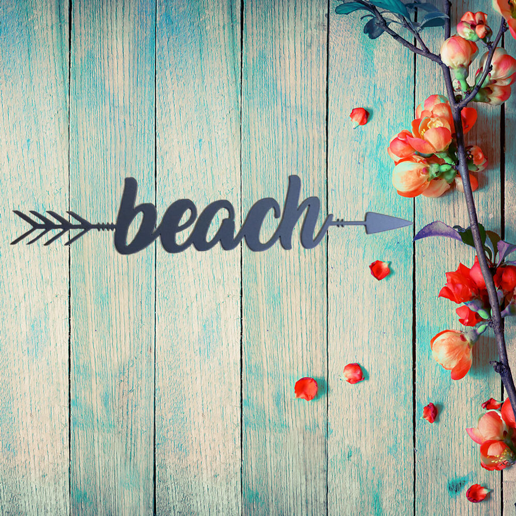Get Lost at the Beach Arrow Wall Art (B59)