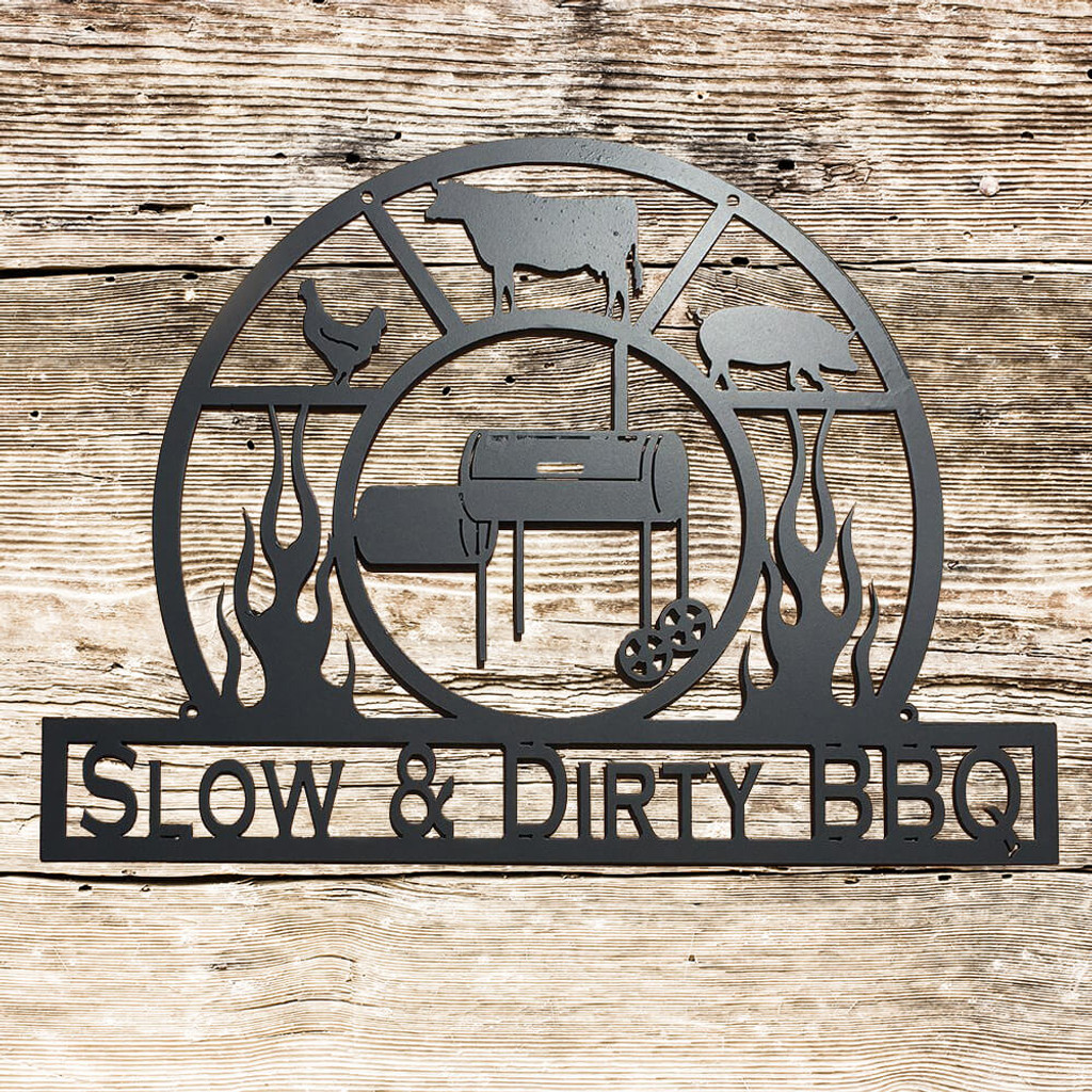 Personalized BBQ Sign, Pit Master Grill Master Sign, Outdoor Kitchen Sign, Man Cave (F13)