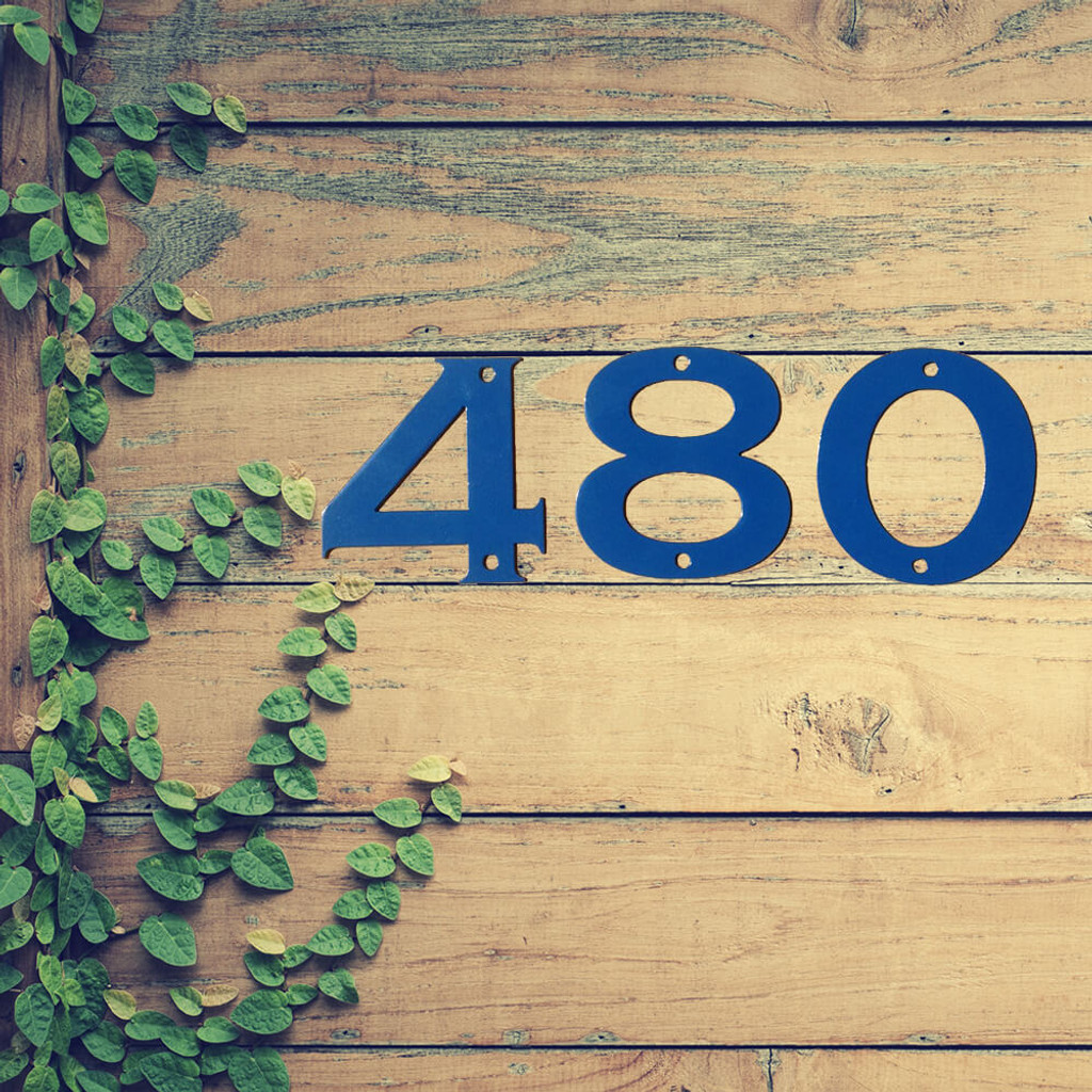 """Bold Metal House Numbers 8"""" (A15)"""