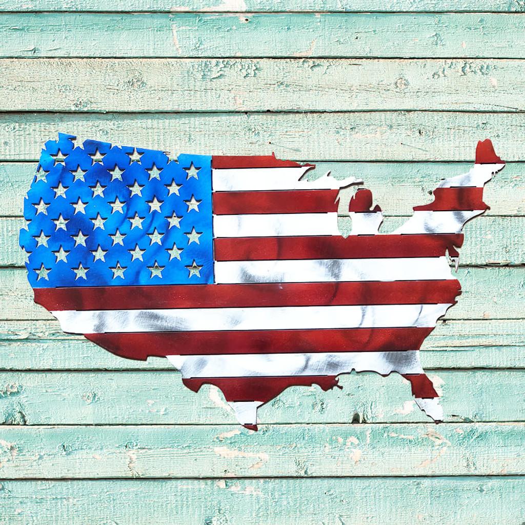 USA Map Flag (E34)
