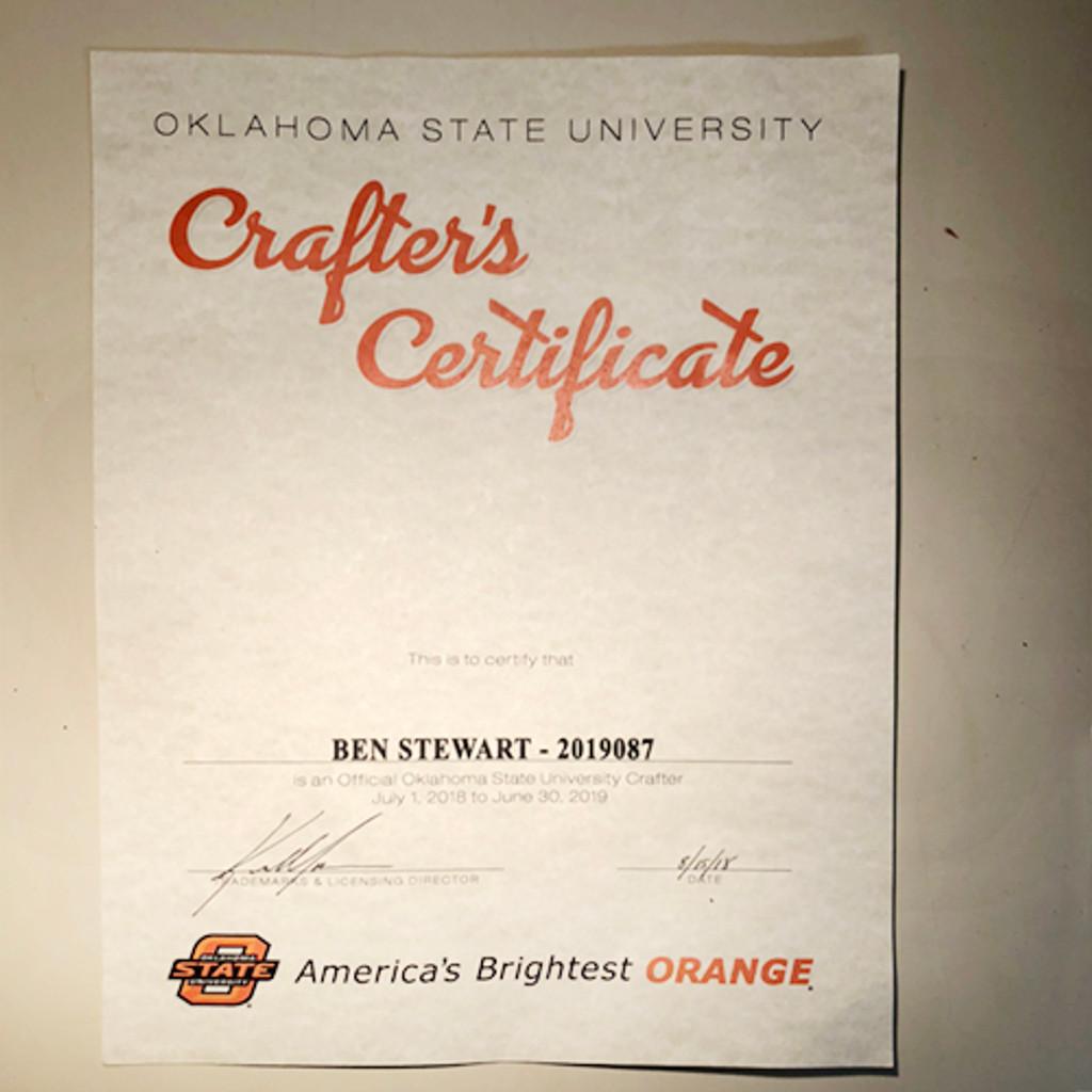Oklahoma State Cowboys Rain Gauge (C46)