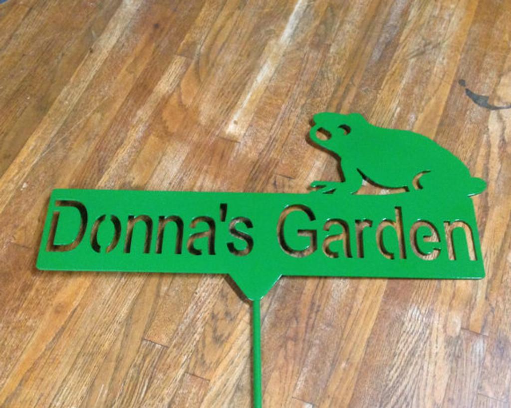 Frog Metal Garden Stake (H)
