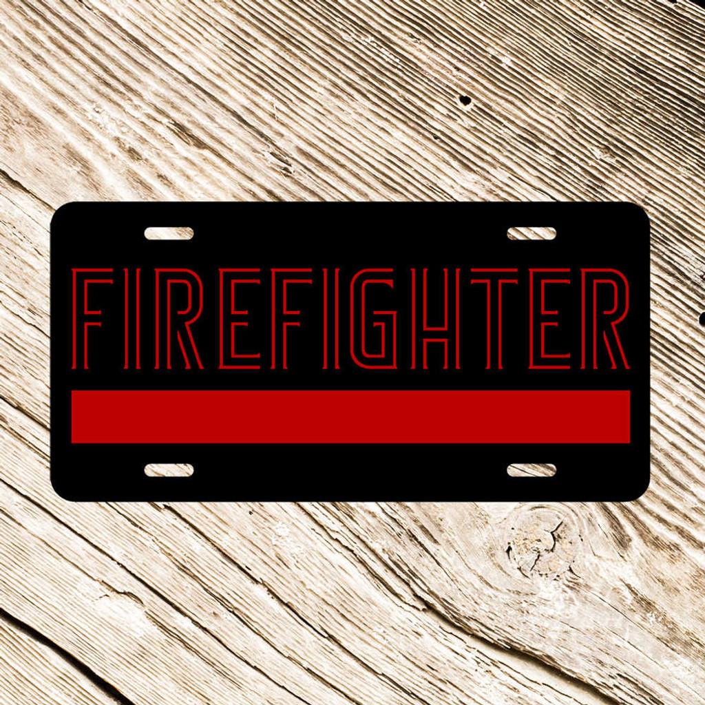 Firefighter License Plate (E41)