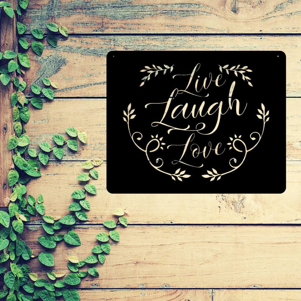 Live Laugh Love Metal Wall Art ( E44 )