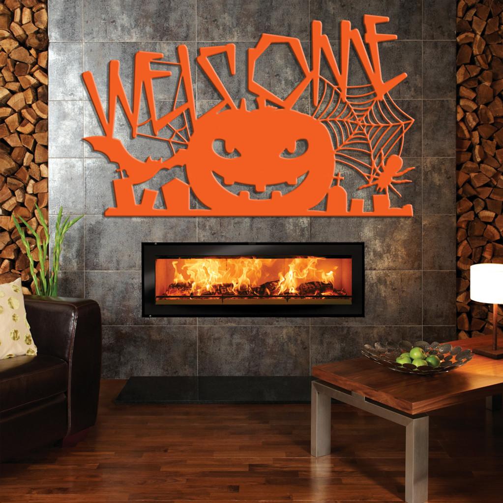 Halloween Welcome Sign with Pumpkin (G40)