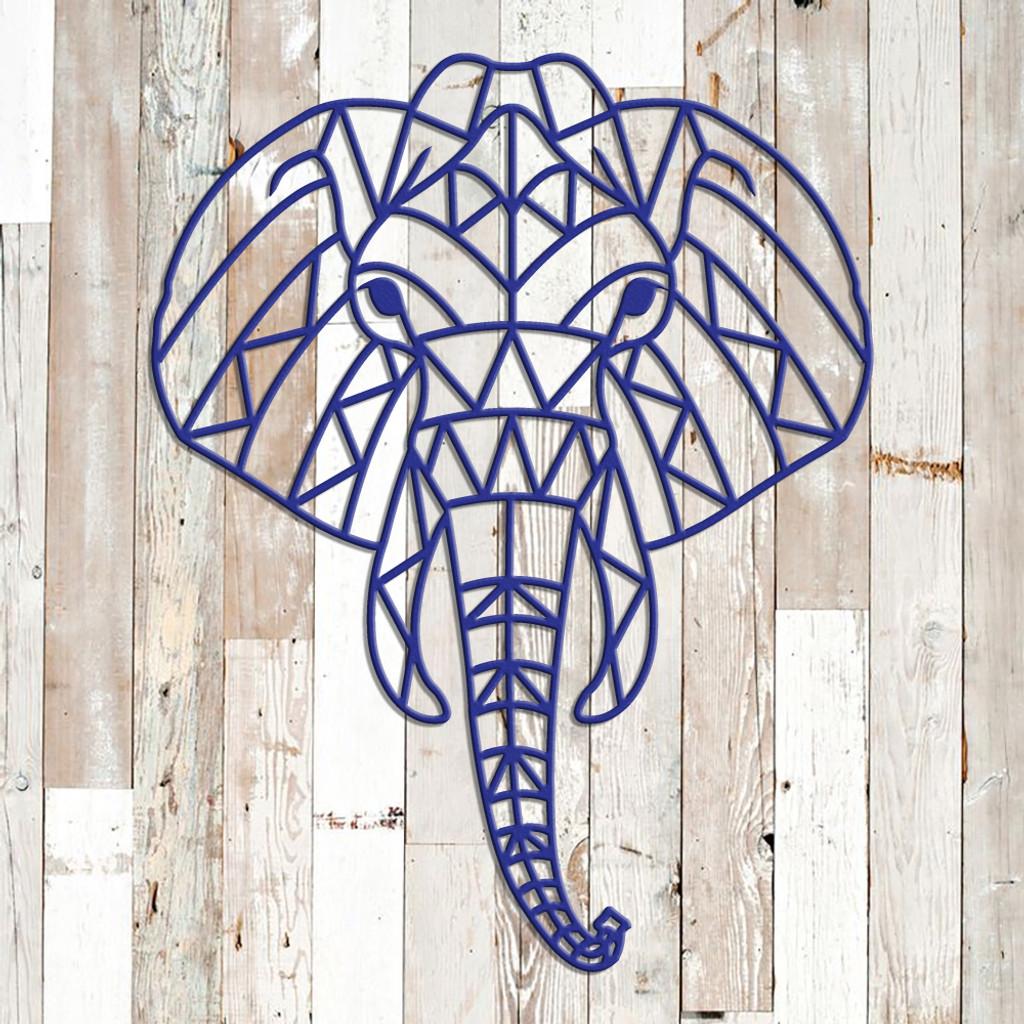 Geometric Elephant Metal Wall Art G42