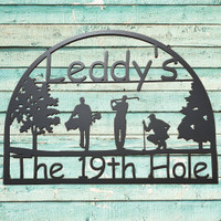Personalized Golf Lover's Sign (W7)