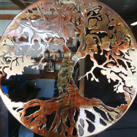 """Metal Art Tree Of Life 20"""" with 1"""" Ring to hold it away from the wall (D16)"""