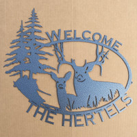 King & Queen of the Forest Welcome Sign (O9) SMALL