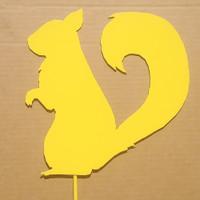 Metal Art Squirrel Metal Garden Stake LARGE   (B0)