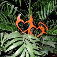 Halo and Horns & Hearts Metal Flower pot stake (A51)