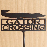 Gator Crossing Garden Stake (A10)
