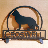 German Shepard Mail Box Topper with Custom Text Field (E21)
