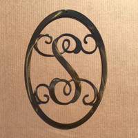 "Monogram Single Letter 18"" Oval (M21)"