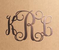 Vine Monogram with Three Initials (L29)