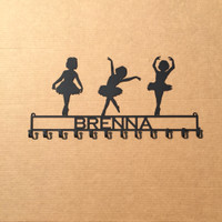 Ballerina / Dancer Metal Rack with Personalized Text
