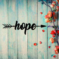 An Arrow of Hope Metal Wall Art (B50)