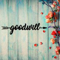 Goodwill to All Arrow Wall Art (B52