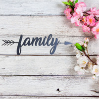 Family Arrow Wall Art (B60)