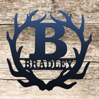Personalized Monogram Antlers (U21)