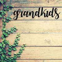 The Gift of Grandkids Metal Wall Art (C34)
