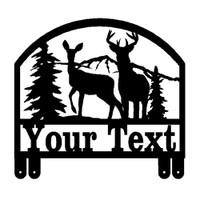 Buck and Doe Deer Mailbox Topper (E32)
