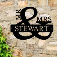 MR and MRS Monogram (D47)